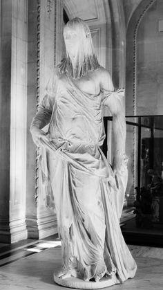 Femme voilée #sculpture #statue #escultura #louvre #museum #museo #femme #voilée #paris #france #francia