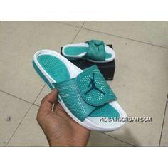 9cb4bcc74707ee For Sale Jordan Hydro 5 Green White Black Retro Slide Sandals Slippers