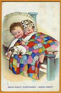 Good Night Everybody Good Night quote night art good illustration goodnight Vintage Greeting Cards, Vintage Postcards, Vintage Pictures, Vintage Images, Good Night Everybody, Nighty Night, Children's Book Illustration, Vintage Children, Vintage Prints
