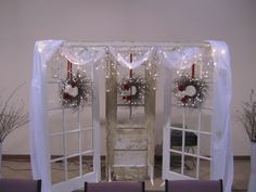 Doors behind head table