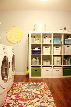 I'd really like it if we could get a place with laundry on the main floor. Then I can do something like this and put all of our cleaning products in it too.