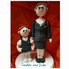 Girls brigade figurines made from our own brand of air drying clay as a special order for our shop Imelda and Judes