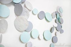 Items similar to Blue Silver White Party Garland Hen Party Decoration, Wedding Garland, Paper Garland, Birthday Decor, Baby Room Decoration on Etsy Party Garland, Garland Wedding, Hen Party Decorations, Birthday Decorations, Silver Paper, White Paper, Baby Room Decor, Blue And Silver, Circles