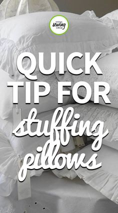 Ashley Hough presents a quick and easy tip for pillow stuffing in this sewing video. Simply take your pillow insert and place into a plastic bag, and see how much easier it is to stuff into your pillow cover! If you enjoy sewing your own pillows, this quick tip is for you!