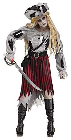 Zombie Pirate Queen Adult Costume What is Incorporated: Get dressed Hat Grownup Measurement The post Zombie Pirate Queen Adult Costume appeared first on Halloween Costumes Best. Zombies eat brains but they make good costumes. Walking Dead anyone? Zombie Pirate Costume, Zombie Costume Women, Zombie Halloween Costumes, Female Pirate Costume, Cool Costumes, Adult Costumes, Costumes For Women, Pirate Costumes, Trendy Halloween