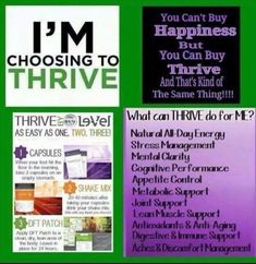 Are you ready to thrive? Weight management, all day energy, mental clarity, appetite control, lean muscle support. Start your 8 week experience today.