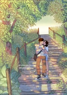 A cartoon illustrator, myeongminho that capture the everyday colors. Cute Couple Drawings, Anime Couples Drawings, Cute Couple Art, Cute Drawings, Pencil Drawings, Love Cartoon Couple, Anime Love Couple, Couple Illustration, Illustration Art