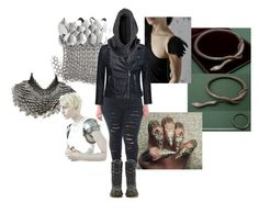 """Don't Touch Me"" by vic-mazonas ❤ liked on Polyvore featuring Fannie Schiavoni, CO, H&M and Dr. Martens"