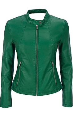 Plus Size Black Rivet Faux-Leather Scuba Jacket w/ Knit Inset - Wilsons Leather