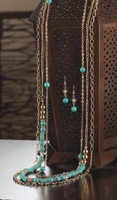 Boho Turquoise Jewelry Set