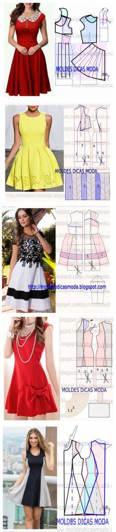 8 простых и легких платьев с выкройками… Идеальны для любой фигуры!