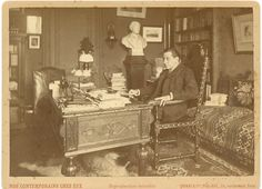 Dornac & Cie., Nos contemporaines chez eux. François Coppée    #Personnalités_du_XIXe_siècle #Divers_XIXe
