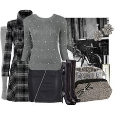 A fashion look from February 2010 featuring Forever 21 sweaters, Jack Wills tights and Versus boots. Browse and shop related looks.