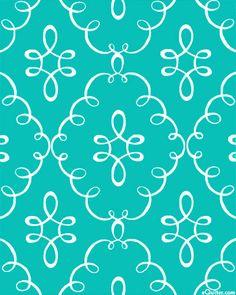 Doodle Damask - Turquoise