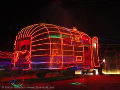 Airstream with neon. (Ah, Burning Man... *grin*)