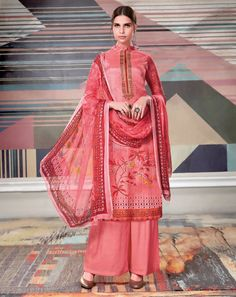 Orange with Pink Color Wedding Wear Heavy Work Designer Lehenga. Lehenga Suit, Silk Lehenga, Saree, Printed Palazzo Pants, Palazzo Suit, Palazzo Style, Readymade Salwar Kameez, Kurti, Bollywood Dress
