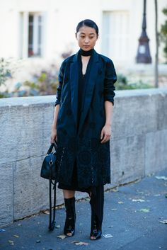 Pin for Later: The Best Street Style From All of Paris Fashion Week Paris Fashion Week, Day 2 Margaret Zhang.