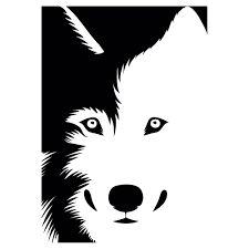 Resultado de imagen para vinilo decorativo luna/lobo