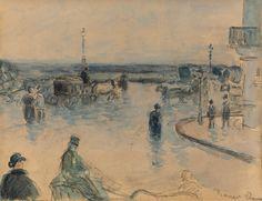 Rouen under the Rain, 1883. Camille Pissarro