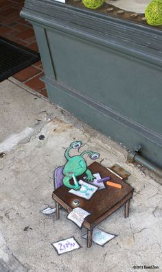 If you happen to live in Ann Arbor, you may already be familiar with a sweet little resident there that seems to randomly pop up on the streets. His name is Sluggo and he's the work of David Zinn.David Zinn has been creating original artwork in and around Ann Arbor since 1987.David has created posters, …