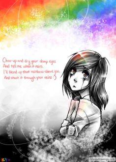 """Owl City this is such a beautiful song.... """"cheer up and dry your damp eyes....and tell me when it rains....and ill blend up that rainbow above you and shoot it through your veins..."""" so beautiful..."""