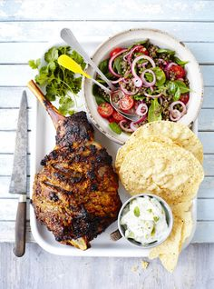 Spiced roast lamb with lentil & tomato salad - Recipe and Food styling: Jane Hornby / Prop styling: Polly Webb-Wilson