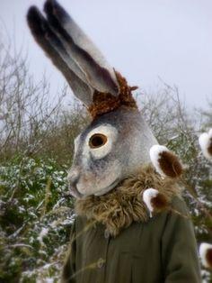 Gladys Pulus felted hare mask