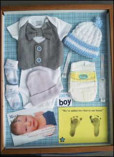 Keep Memories With Your Newborn Baby Fresh by Putting Their First Belongings in a Shadowbox!