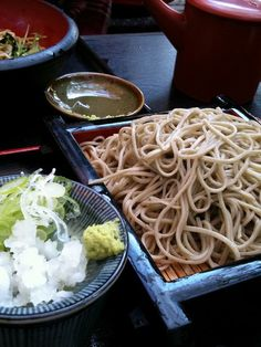 Japanese noodles -soba- at Zjindaiji, Tokyo, Japan