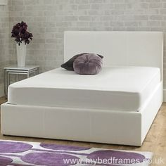 Stirling ice white #ottoman bed frame from mybedframes.co.uk