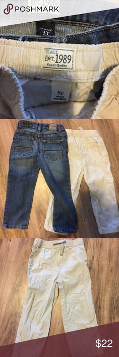 Boys size 3T pants bundle with jeans and khakis Boys size 3T pants bundle with jeans and khakis . Both pairs of pants are from children's place with no signs of wear. Children's Place Bottoms Casual