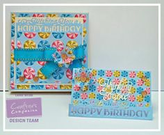Edge'ables Wishing you a Happy Birthday and Thinking of you Dies.Crafter's Companion HSN Blog Hop.