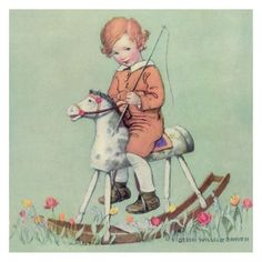 """Beautiful cards illustrated by Jessie Wilcox Smith. This illustration was featured in Good Housekeeping Magazine in the early 20th Century. Each card is 6 1/2 x 6 1/2"""" and are blank inside. Price is f"""