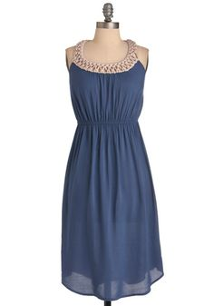 "༺I like the relative simplicity of this dress... note the neckline detail as well as the back one too.༻          ""Nested In Dress"""
