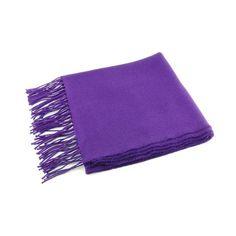 Purple Lightweight Wool Scarf