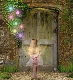 Only the grand-darlings know where to find the fairies at the Cottage.