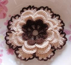 Wholesale Crochet Flower in 4.5 inches in Cream And Brown      #CrochetFlowers, #HandmadeFlowers, #SingleFlowers  We set MOQ, You Set price! Accepted Small Order Quantity on Small Order Store China Wholesaler http://www.smallorderstore.com/product/crochet-flower-in-4-5-inches-in-cream-and-brown