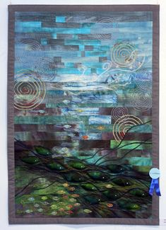 "Icelandic Patchwork and Quilting Association 2009 - the theme was ""The Ocean"".  Quilt by Svava K. Egilson"