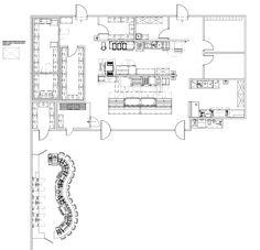 u-shaped bar plans Restaurant Kitchen, Restaurant Design, Bar Plans, Commercial Kitchen, Planer, Floor Plans, Layout, How To Plan, Canteen