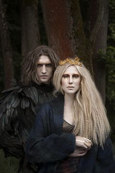 Hades and Persephone, king and queen of the underworld