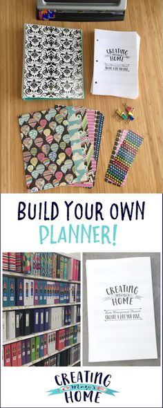 Build Your Own Planner - creatingmaryshome.com