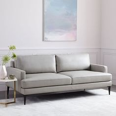 """Andes Leather Sofa (76.5"""")"""