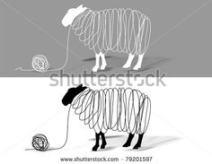 the sheep is producing wool and clothes by Hans-Joerg Nisch, via Shutterstock