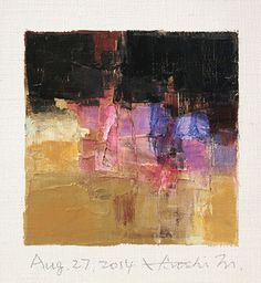 Aug. 27, 2014 abstract oil painting by Hiroshi Matsumoto