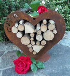 eule holz edelrost gartendeko geschenkidee rost blech brennholz, Garten ideen