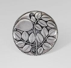 Josef Hoffmann, Large brooch, Silver, made by Josef Hossfeld, Wiener Werkstätte Antique Jewelry, Silver Jewelry, Vintage Jewelry, Art Nouveau Jewelry, Silver Flowers, Messing, Belt Buckles, Jewelery, Floral Design