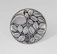Josef Hoffmann, Large brooch, Silver, made by Josef Hossfeld, Wiener Werkstätte Antique Jewelry, Silver Jewelry, Vintage Jewelry, Art Nouveau Jewelry, Art And Craft Design, Silver Flowers, Belt Buckles, Metal Art, Floral Design