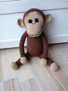 Hækle opskrift på abe ala Peter Pedal.