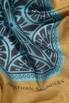 Victoriana printed modal and cashmere-blend scarf by Jonathan Saunders