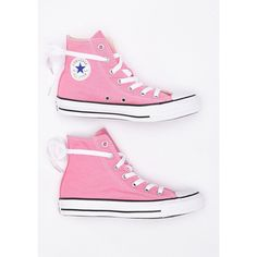 Chuck Taylor All Star Core Hi Top ($55) ❤ liked on Polyvore featuring tops, star print top and pink top